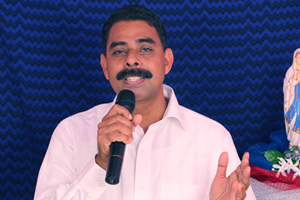 Bro. Varghese Orupuram giving message about fourth commandment